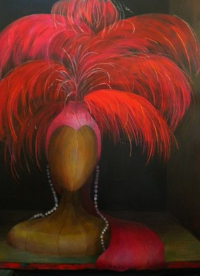 Acrylic Painting by Denise Dalzell titled: Once A Queen, 2014