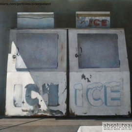 Denise Dalzell: 'Stopped for Ice', 2013 Acrylic Painting, Representational.