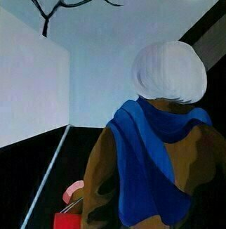 Denise Dalzell: 'Within Sight', 2019 Acrylic Painting, People. painting, within sight, illustration, expressionism, pop art, modern, realism, people.  A scene of emerging from a subway into an unknown event. ...