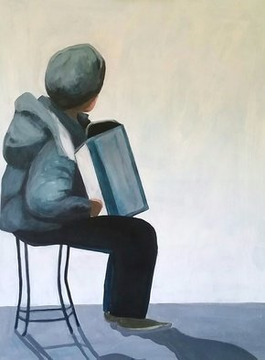 Denise Dalzell: 'recital', 2018 Acrylic Painting, Figurative. Artist Description: A street performance by an accordianist...