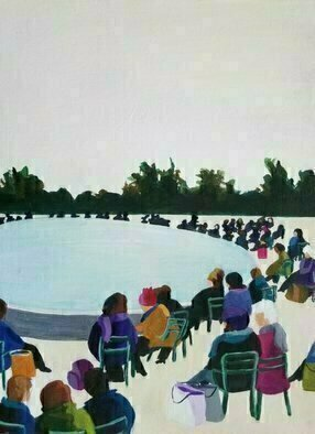 Denise Dalzell: 'wednesday', 2021 Acrylic Painting, People. A Wednesday afternoon relaxing with friends...