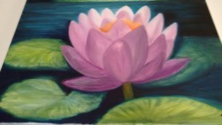 Denise Seyhun Artwork Pink Water Lily, 2016 Oil Painting, Floral