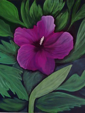 Denise Seyhun Artwork Rose of Sharon, 2016 Oil Painting, Floral