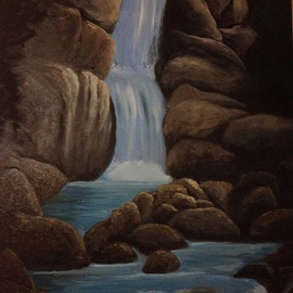 Denise Seyhun Artwork The Falls, 2016 Oil Painting, Landscape