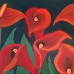 red calla lilies By Denise Seyhun