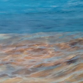 Denise Seyhun: 'seabed', 2017 Oil Painting, Sea Life. Artist Description: Seascape, water, sea life, sea bed, waves, beach, shore, tranquility, serenity...