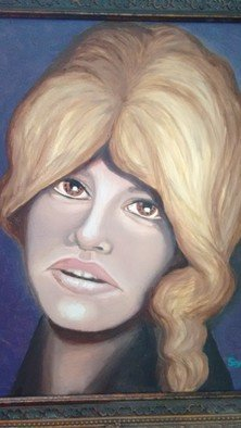 Denise Seyhun Artwork the wig, 2017 Oil Painting, Portrait