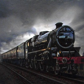 Black Five, Galloway, Scotland, train, steam, locomotive