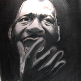 Dennis Howell Artwork Martin Speaks, 1996 Pastel, History