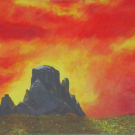 Fire Mountain By Denys Katz Harvell