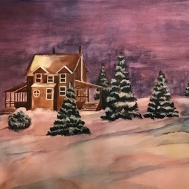 a snowy night  By Deborah Paige Jackson