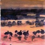 Birds In Sunset, Deborah Paige Jackson