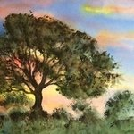 tree at dusk By Deborah Paige Jackson