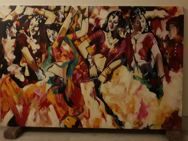 Parijat Dey  'Dancing Girls', created in 2018, Original Other.