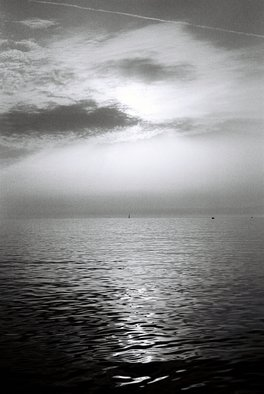 Petri De Pit�: 'Geneva Lake', 2008 Silver Gelatin Photograph, Landscape.  Geneva or Leman Lake in Switzerland ...