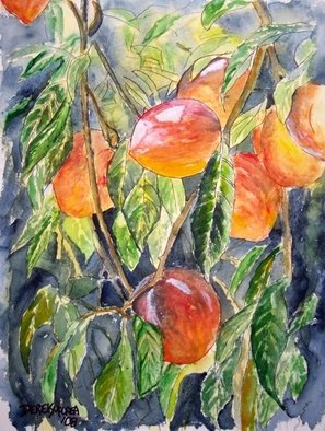 Artist: Derek Mccrea - Title: Peaches - Medium: Watercolor - Year: 2008
