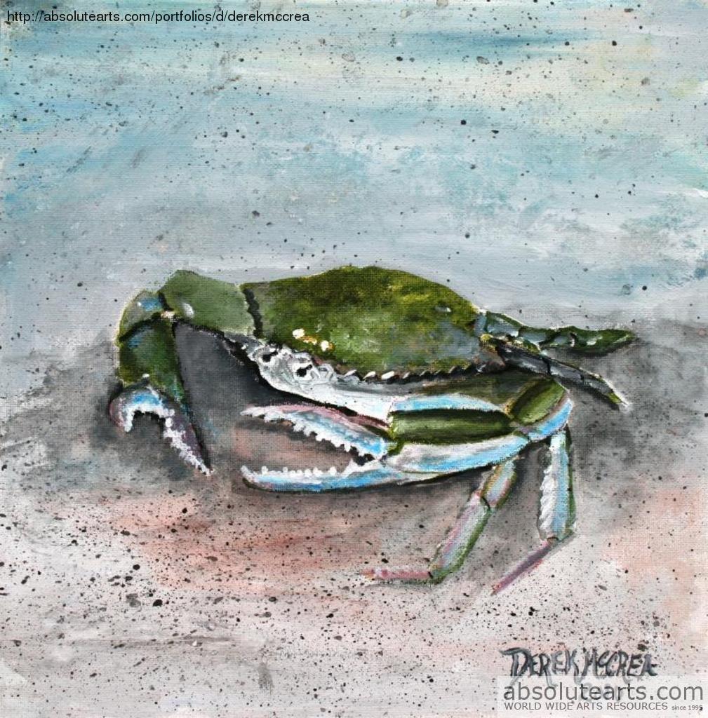 Blue Crab Giclee Print By Derek Mccrea   absolutearts.com