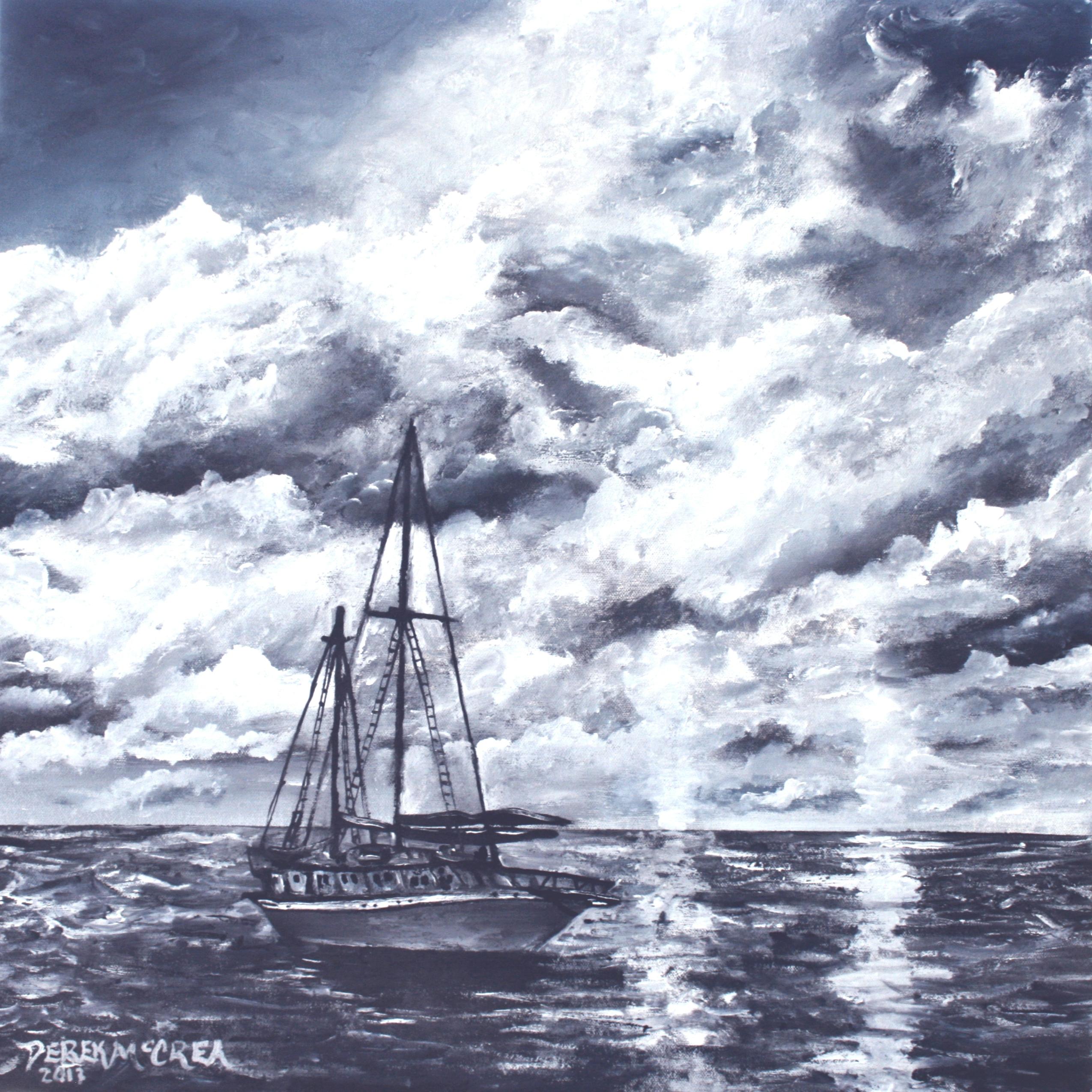Sailing Sailboat Nautical Beach Seascape Art Giclee Print By Derek ...