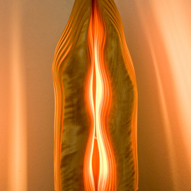 Dermot O'brien: 'Resonance1', 2009 Wood Sculpture, Abstract. Artist Description:   Light sculpture birch ...