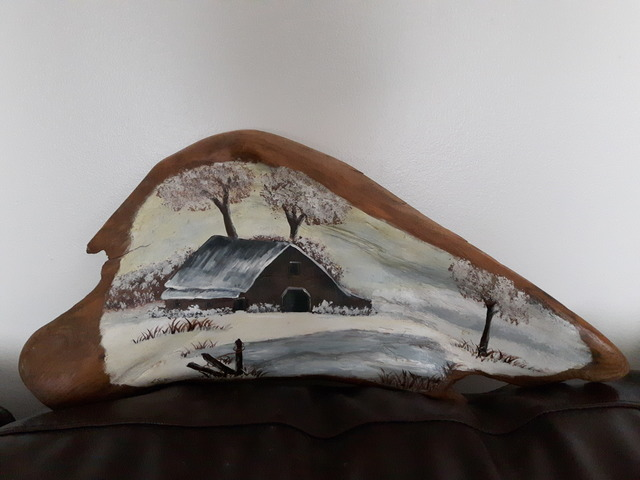 Laura Scott  'Winter Barn', created in 2014, Original Sculpture Clay.