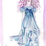 Blue Evening Gown, Carol Donahue - Kalathil