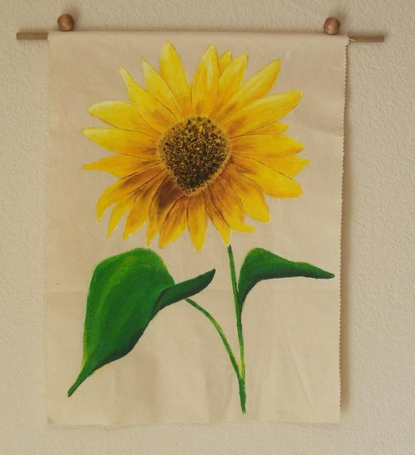Artist Desray Lithgow. 'Sunflower Wall Hanging' Artwork Image, Created in 2012, Original Painting Acrylic. #art #artist