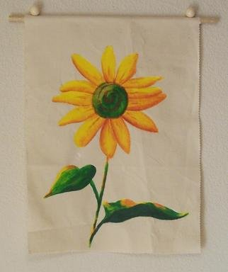 Artist: Desray Lithgow - Title: Sunflower wall hanging - Medium: Acrylic Painting - Year: 2011