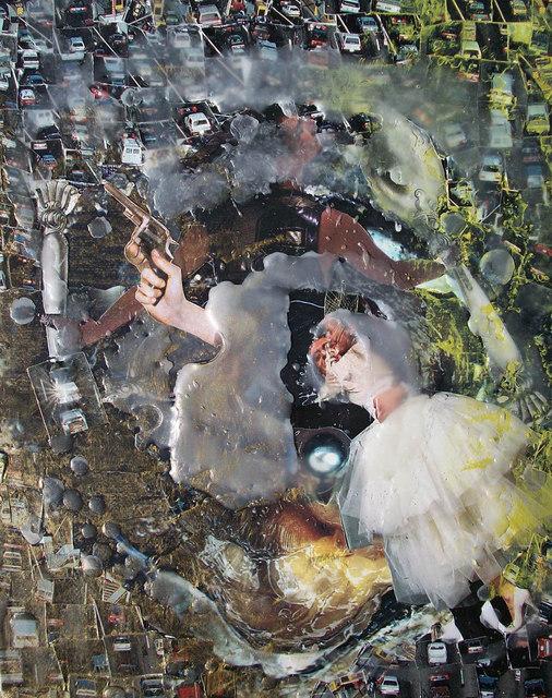 K Van Zwol Artwork: WiRED   Original Mixed Media   World Conflict Art