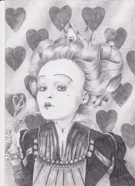 dallas evans artwork alice in wonderland red queen