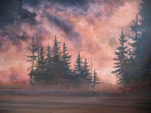 Devon Henderson  'Algonquin Sunset', created in 2011, Original Watercolor.