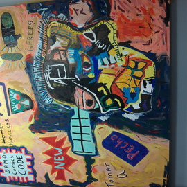 Kelly Blue: 'Ecce Homo', 2013 Acrylic Painting, Outsider. Artist Description:  An homage to Basquiat, the work is vivid, powerful and enthralling.   ...