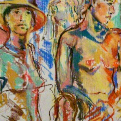 , Nude Study At The Tench, Nudes, $105