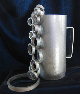Steel Sculpture by Diana Carey titled: My Cup Runneth Over, 2014