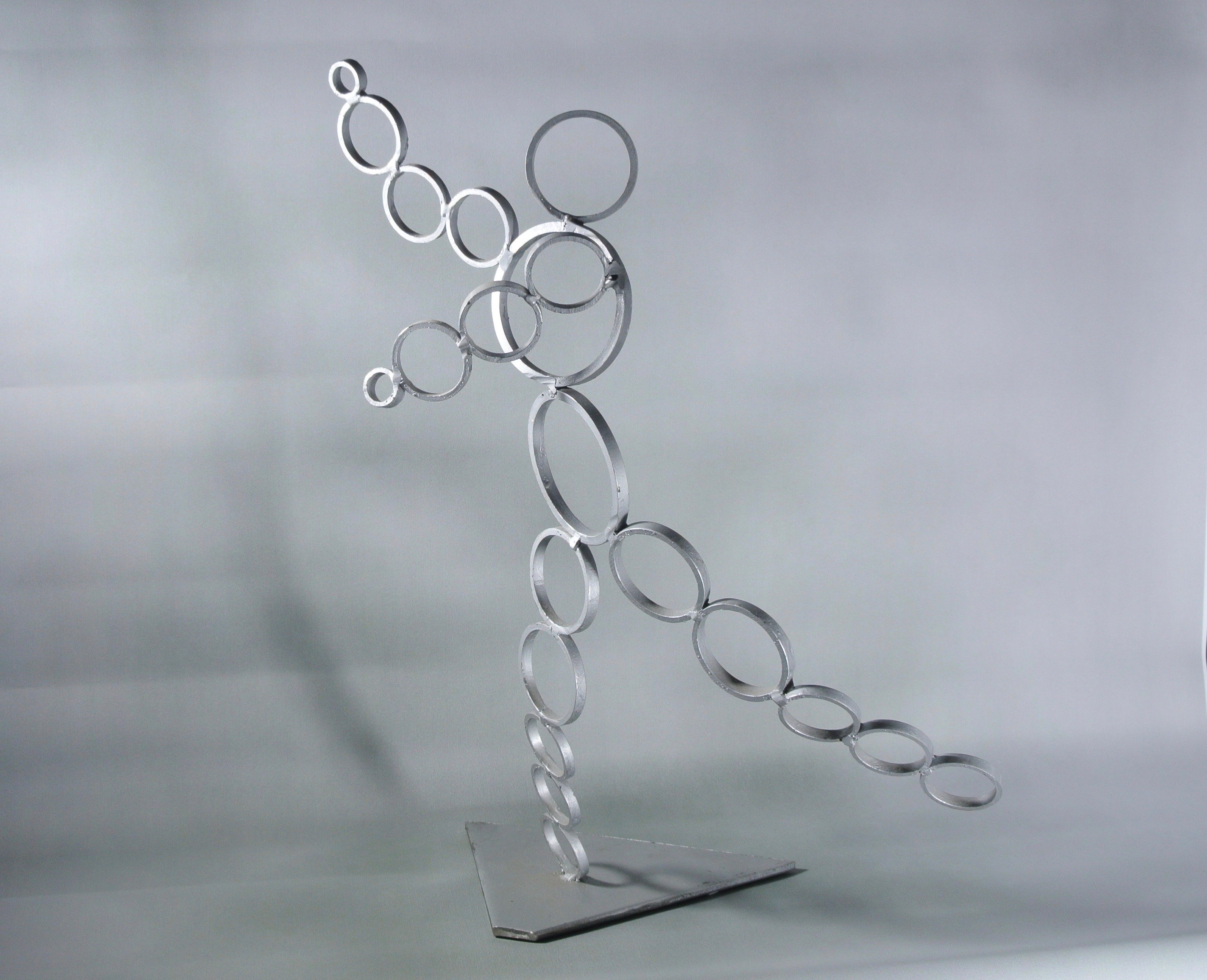 Diana Carey: 'The Dancer', 2015 Steel Sculpture, Abstract. Artist Description: Flowing movement of a dancer. Steel sculpture abstract tabletop...