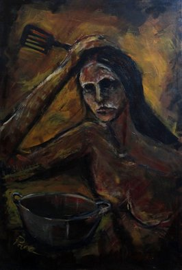 Artist: Diane Emami - Title: what to cook - Medium: Acrylic Painting - Year: 2013