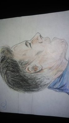 Diego Hernandez: 'neymar the brazilian genious', 2018 Pencil Drawing, Motivational. Artist Description: Drawing of an imagen of Neymar, drawn with penicilina and colored with color pencils...