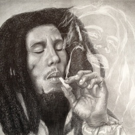 Diellza Gojani Artwork Bob Marley , 2014 Other Drawing, Famous People