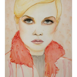 Diellza Gojani Artwork Twiggy, 2013 Other Drawing, Famous People