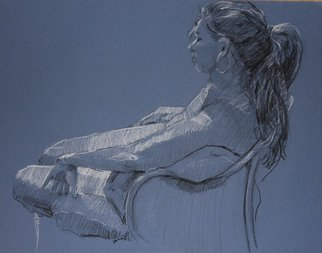 David Diener Artwork Splendid Isolation, 2008 Pastel, Nudes