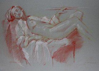 David Diener Artwork bed of coals, 2008 Pastel, Nudes