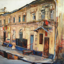 Theresa Maxwell Artwork Sidestreet, 2007 Oil Painting, Landscape