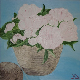 Diana Diamandieva: 'Peony', 2009 Oil Painting, Floral. Artist Description:     original