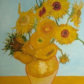 Diana Diamandieva: 'Sunflowers', 2009 Oil Painting, Floral. Artist Description:      original