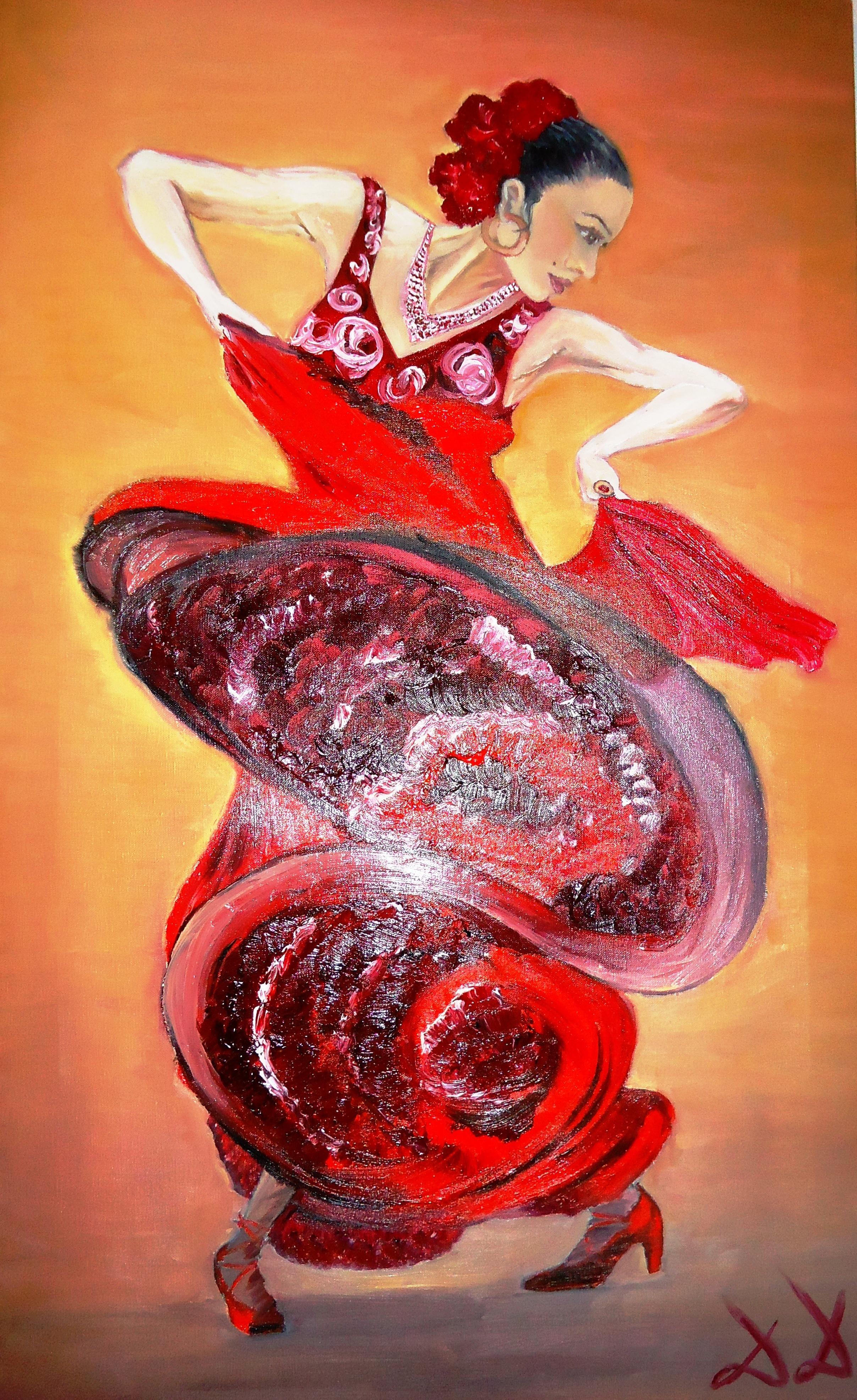 Diana Diamandieva Artwork Flamenco Dancer Original