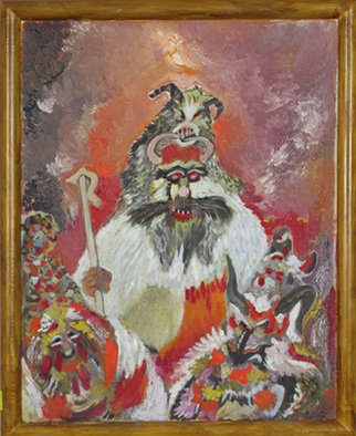 Dilyan Dochev Artwork Mummery 2, 2009 Oil Painting, Clowns