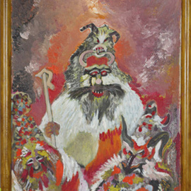 Dilyan Dochev: 'Mummery 2', 2009 Oil Painting, Clowns. Artist Description:     clowns, music, Dilyan Dochev, DiL, art, original                 ...