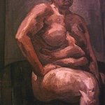 Sitting Nude By Dina Elsayed Imam