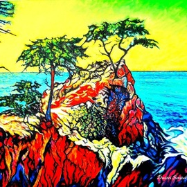 Dmitri Ivnitski: '17 mile drive ca', 2019 Oil Painting, Beauty. Artist Description: 17 Mile Drive is one of the most scenic drives in the world as you meet the inspiring Lone Cypress, ponder the giant trees at Crocker Grove, digest the untouched beauty at Fanshell Beach, behold the power of the Restless Sea at Point Joe, stroll the boardwalk above ...