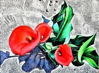 Dmitri Ivnitski: 'flowers on sand', 2018 Oil Painting, Botanical. Artist Description: aEURoeFlowers on SandaEUR is original oil on canvas painting by Dmitri Ivnitski. Buy painting or multiple sizes prints. Additional information at