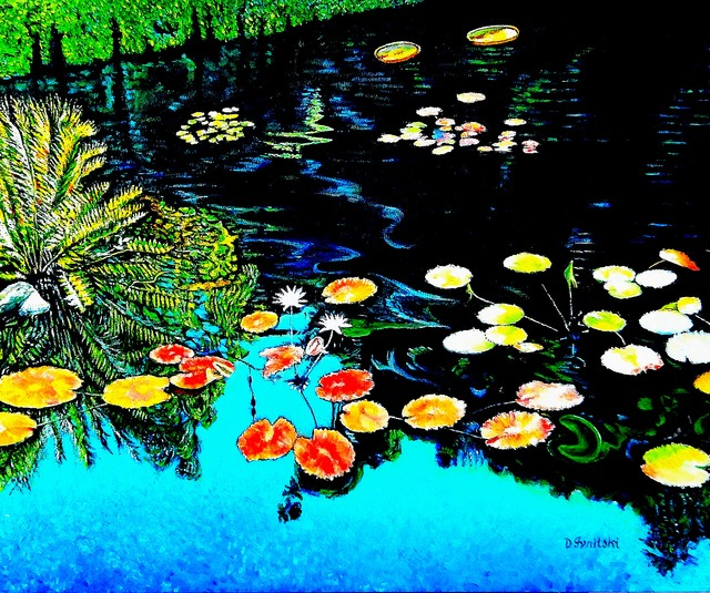 Dmitri Ivnitski  'Garden Pond', created in 2017, Original Painting Oil.